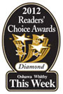 2012 Readers Choice Diamond award for best Oshawa Whitby Dentists.
