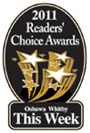Readers Choice banner for best Oshawa dentist in 2011.