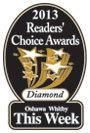 2013 Readers Choice Diamond award for best Oshawa Whitby Dentists.